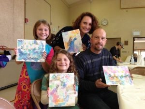 Art class with kids and adults
